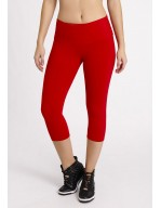 PANTALÓN PIRATA SUPPLEX ROJO/BRONCE 08137