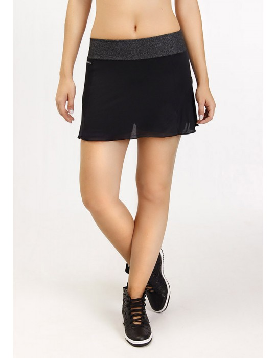 FALDA SHORT SHEER NEGRO/MESCLA 18144