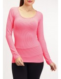 CAMISETA MANGA LARGA MAX FRESH ROSA 01192