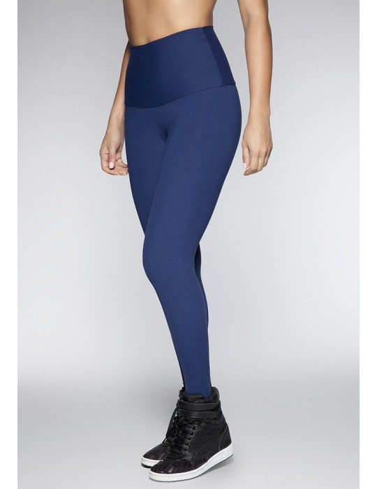 LEGGING CINTURA ALTA HILO SUPPLEX AZUL 06105