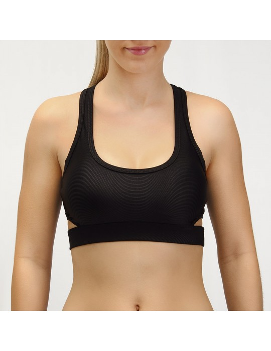 TOP DEPORTIVO LENATEX DESIGN NEGRO ES98