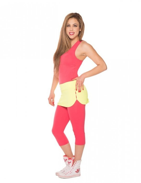 FALDA DEPORTIVA FITNESS AMARILLO 9041-AM95