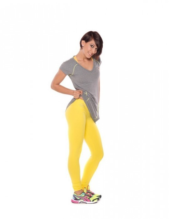 LEGGING FITNESS AMARILLO CON STRASS 06104-AM17